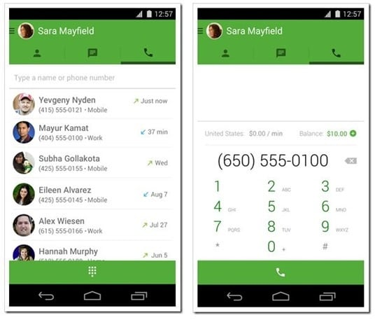 Use Google Voice with Hangouts App