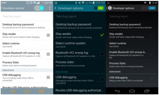 set android screen timeout