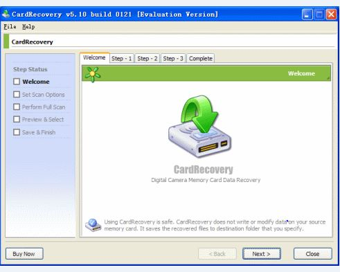 recover deleted photo with CardRecovery software step 1