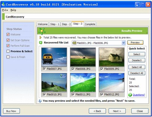 recover deleted photo with CardRecovery software step 4