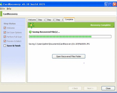 recover deleted photo with CardRecovery software step 5