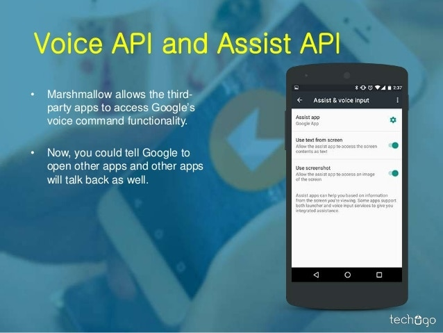 android 6.0 voice and assist API