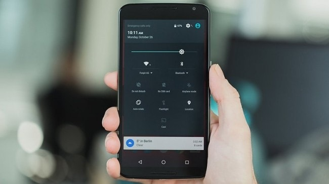 android 6.0 notifications and quick setteings