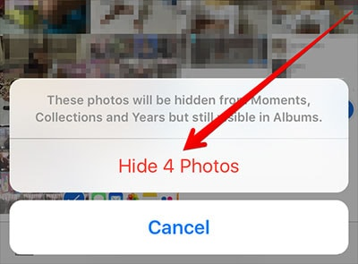 How can you hide pictures on your iphone
