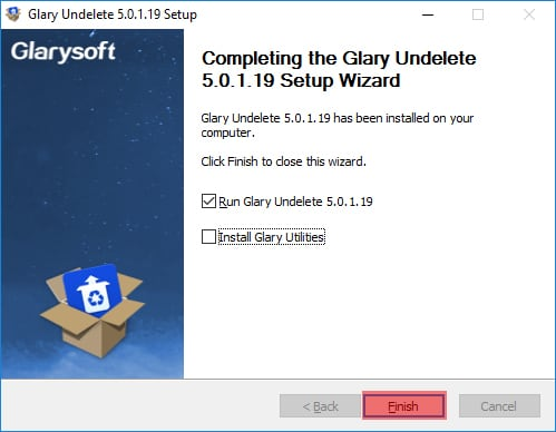 Glary Completing Setup Wizard