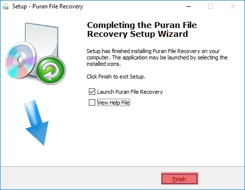 Puran File Recovery Setup Complete