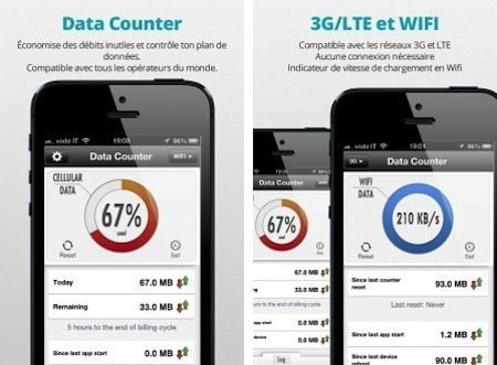 how to set data usage on iphone