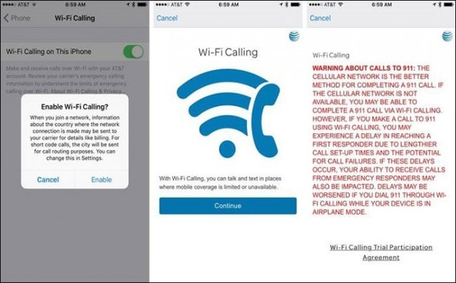 turn off wifi calling on iphone