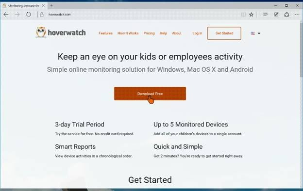 install and record calls with Hoverwatch-Download