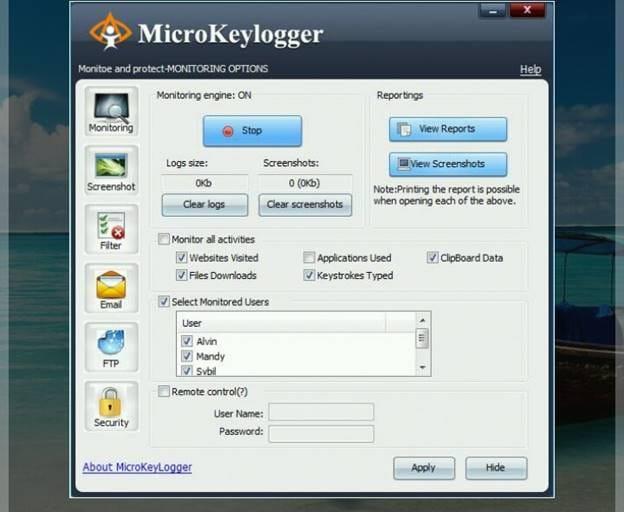 Micro keylogger