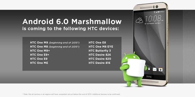 htc smartphone android 6.0