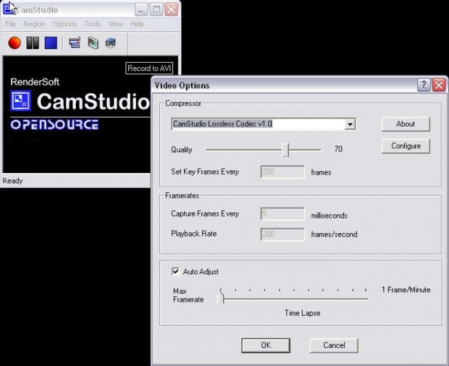 Record Video from Screen - CamStudio
