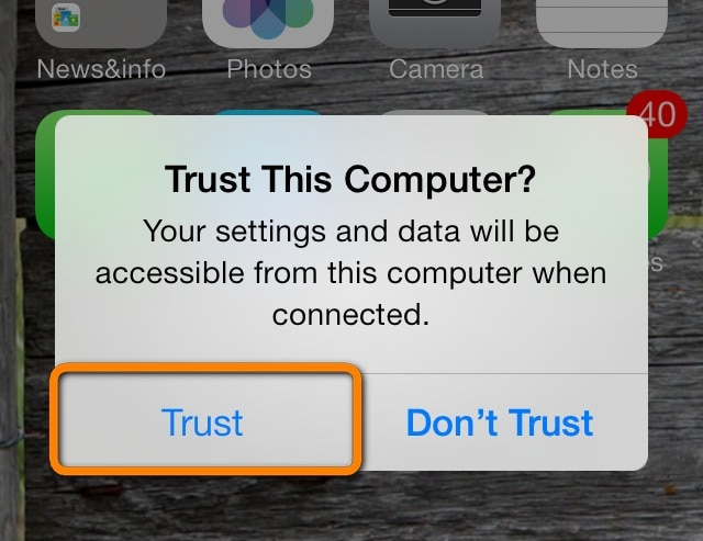how to trust a computer on iphone - trust
