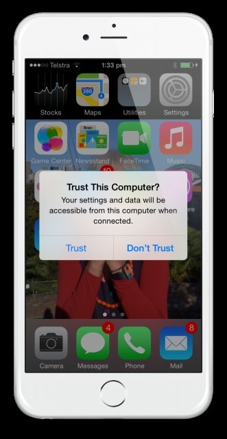 how to trust a computer on iphone - Stop Trust this Computer