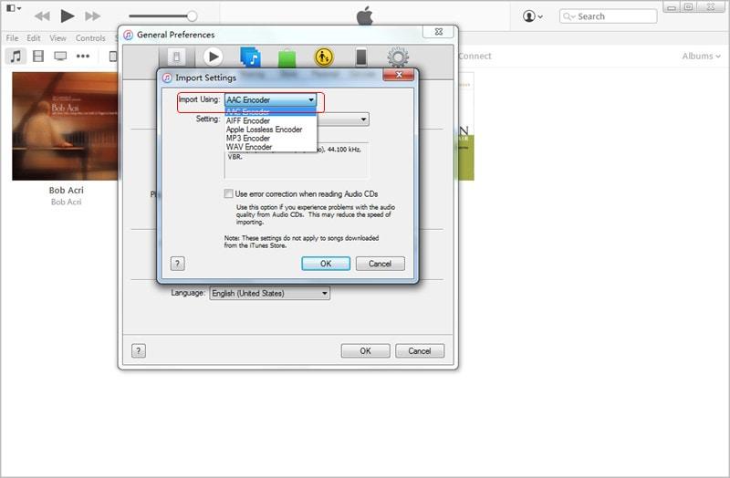 Choose Import File Format