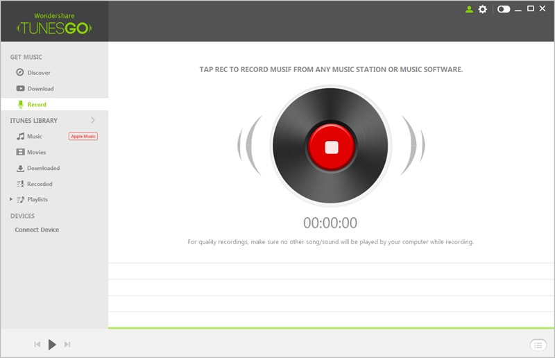 Record Audio from YouTube - Click Record