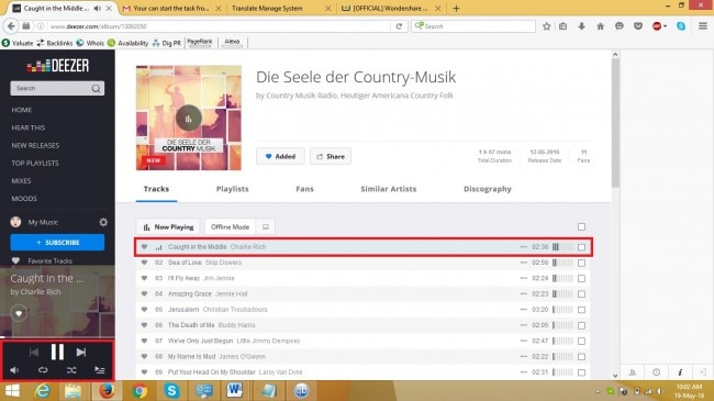 deezer music - save deezer music step 3