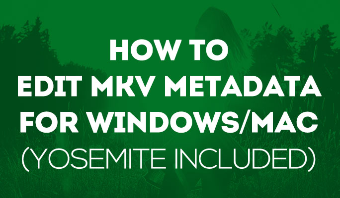 How to Edit MKV Metadata for Windows/Mac (Yosemite included)