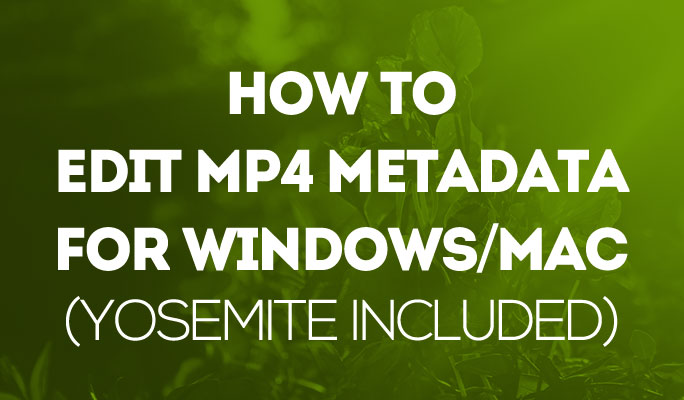 How to Edit MP4 Metadata for Windows/Mac (Yosemite included)