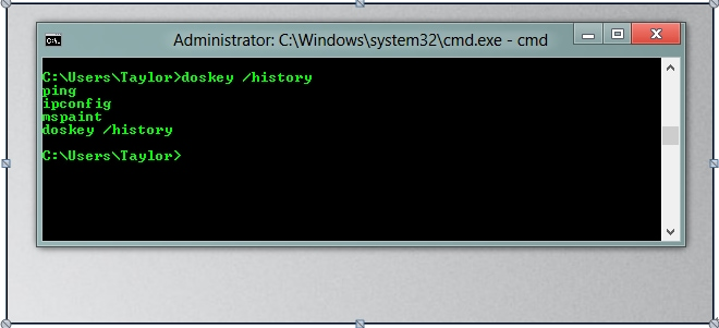 Use the doskey command to delete files and folders