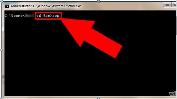 Use cmd to complete file path to delete files and folders