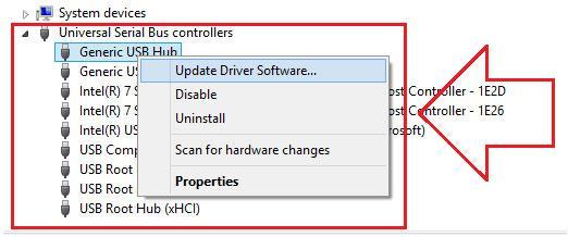 arranjar problema USB não reconhecido por Windows