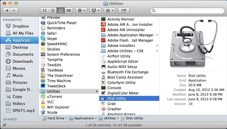 format flash drive on Mac