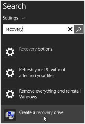 How to restore Windows 8 with a usb recovery Drive