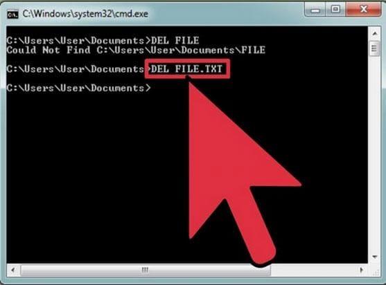 étapes pour supprimer des fichiers verrouillés