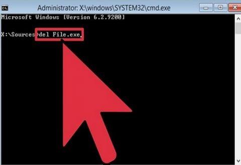كيفية حذف الملفات المقفلة يدويا