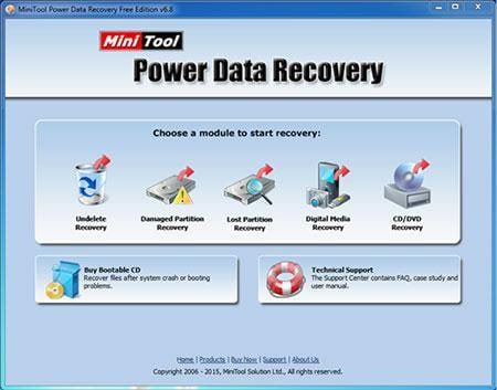 Undelete Freeware-MiniTool partition recovery