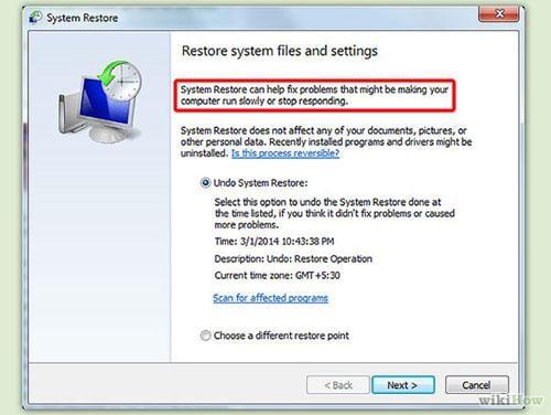 system Rrestore