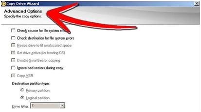 cloner disque dur étape 7