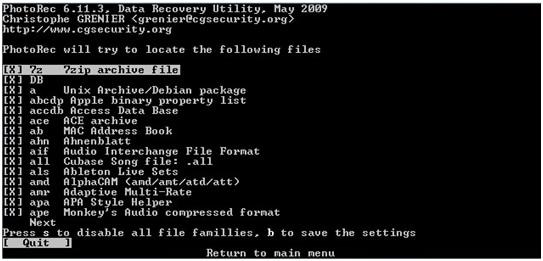 logiciel de récupération de données pour Linux