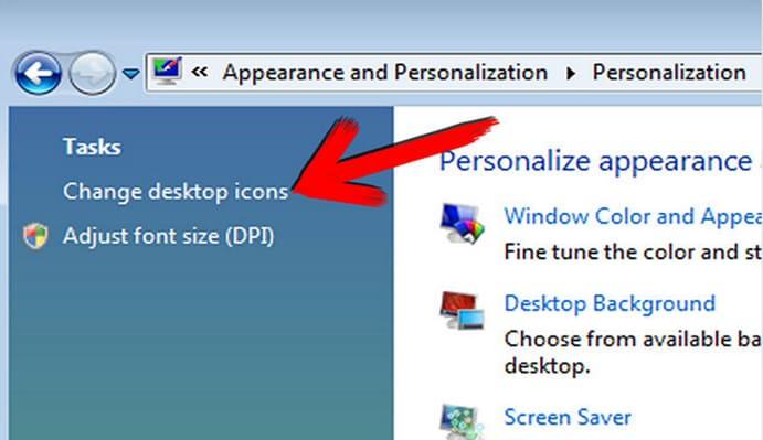 clicca su Personalizzazione