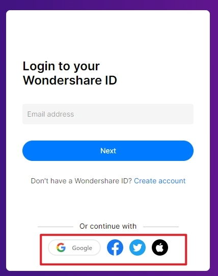 sign in other account