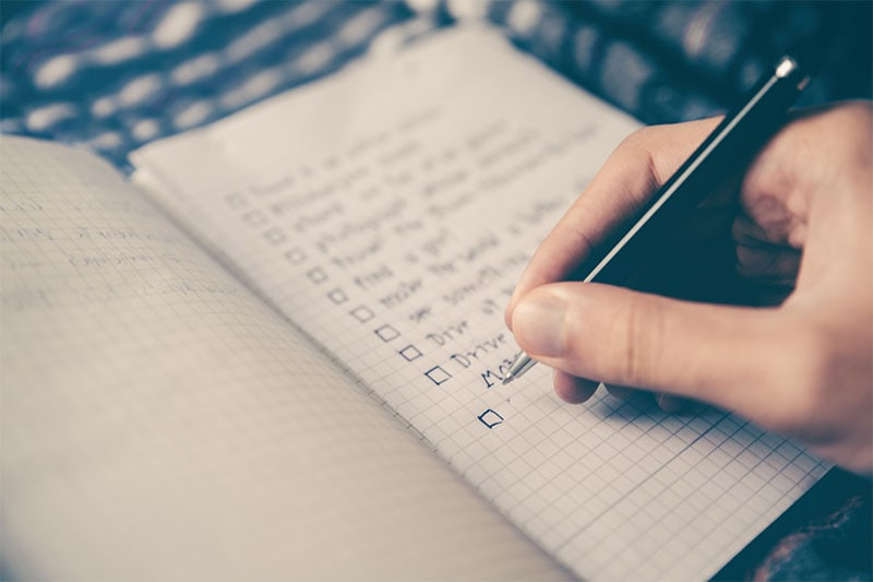 prepare a list of questions