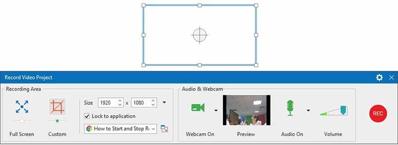 audio and webcam