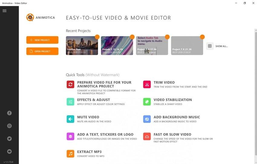 animotica crop video select