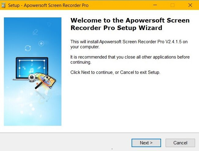 apowersoft continue setup