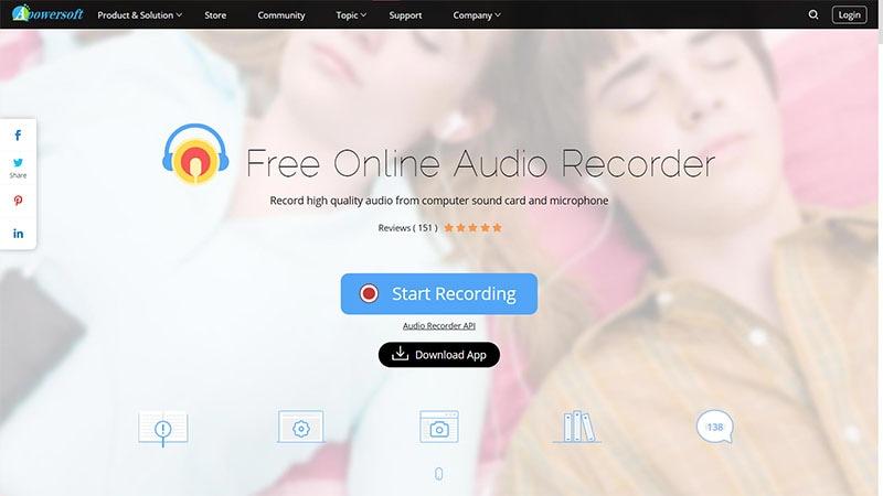 apowersoft online audio recorder
