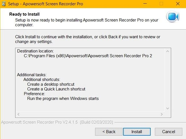 apowersoft ready to install