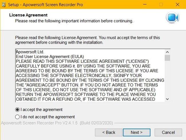 apowersoft screen recorder agreement
