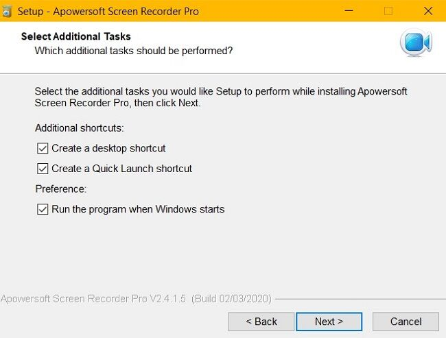 apowersoft tasks select