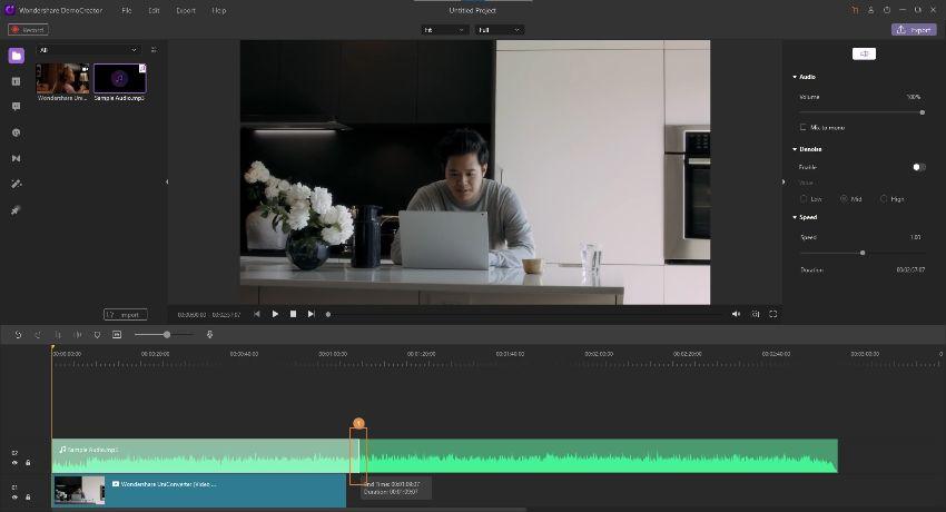 attach audio to video