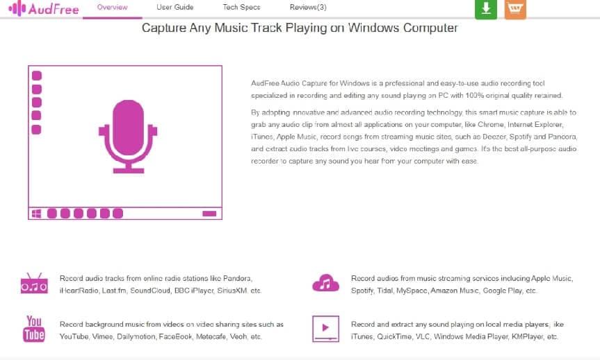audfree audio capture