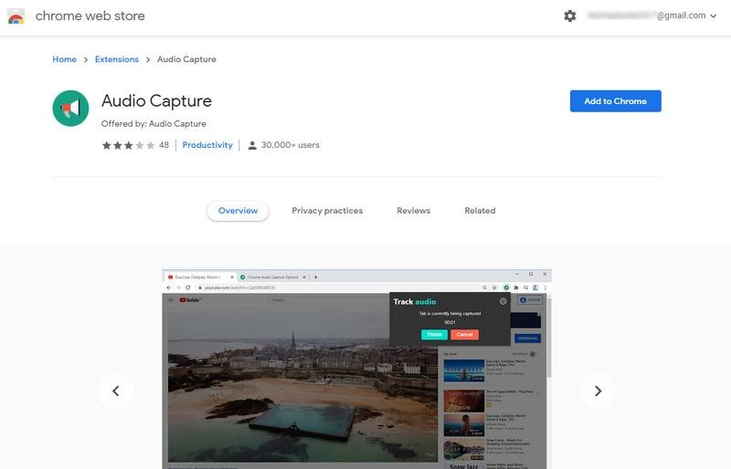 add audio capture to chrome