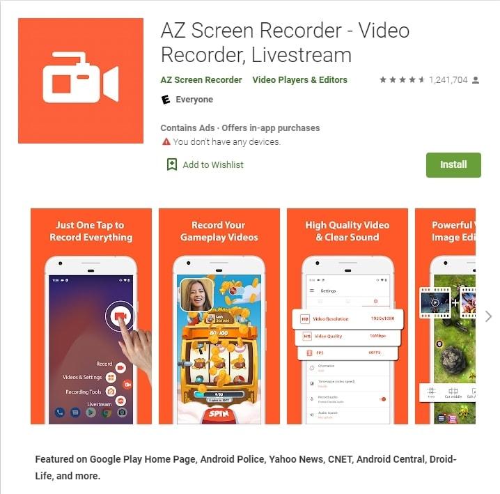 az screen recorder nowatermark