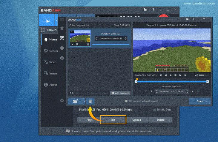 bandicam video spliter