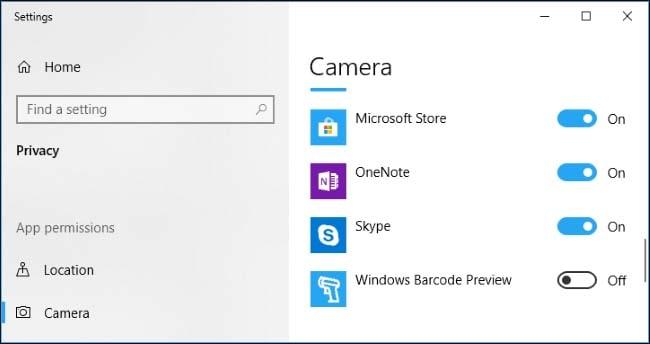 camera app windows 10